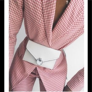 Zara gingham blazer+ pants co-ord set